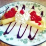 Homemade Raspberry Crepes